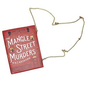 The Mangle Street Murder Book Clutch with Chain